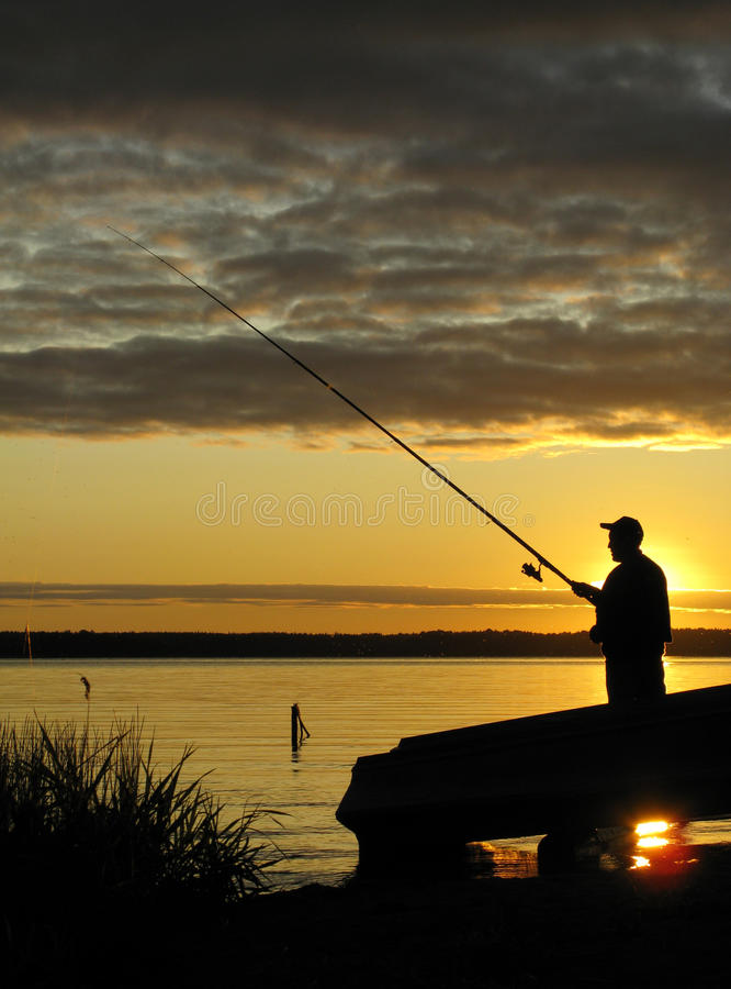 Fishing on Seliger royalty free stock photo