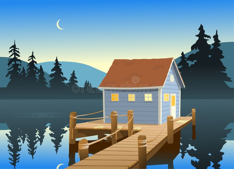 Fishing Shack vector illustration