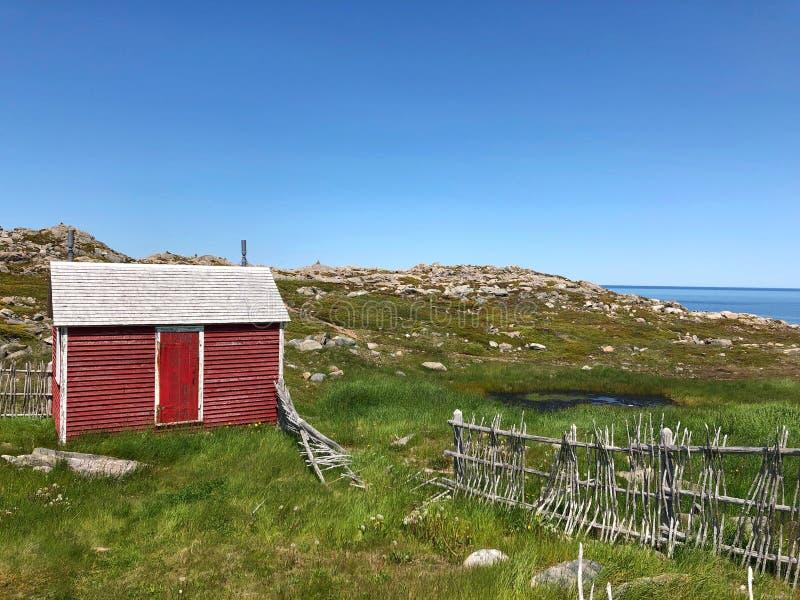 Fishing shack stock photo