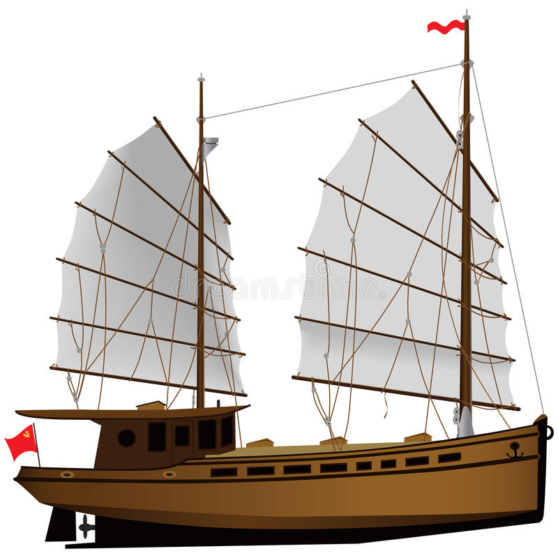 Download Fishing ship stock vector. Image of vintage, journey - 14853072