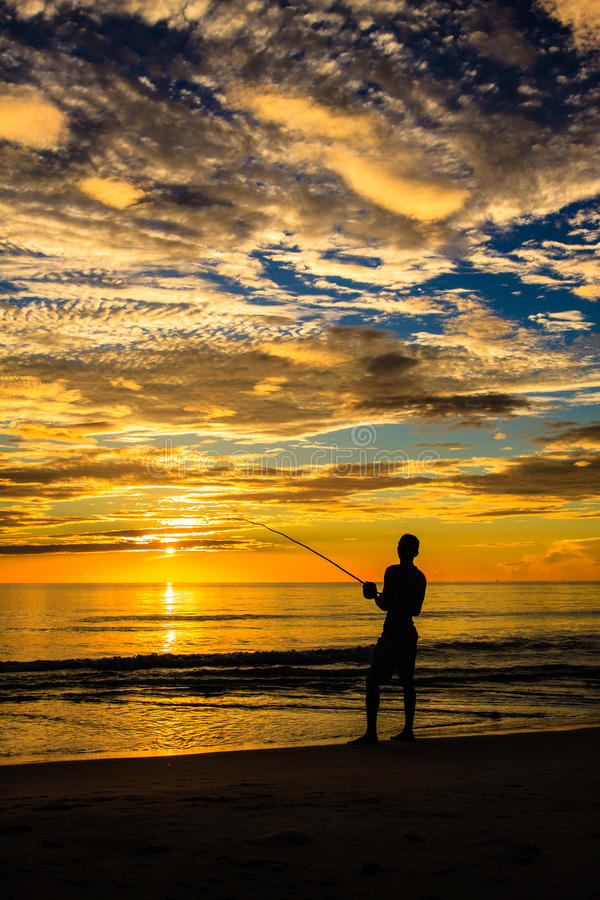 Free Fishing Silhouette Royalty Free Stock Images - 32198629