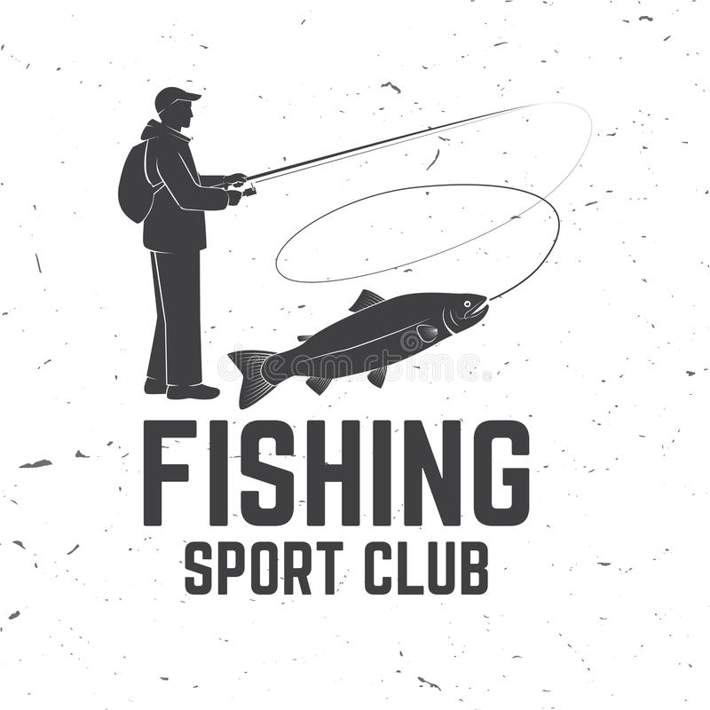Fishing sport club. Vector illustration. royalty free illustration