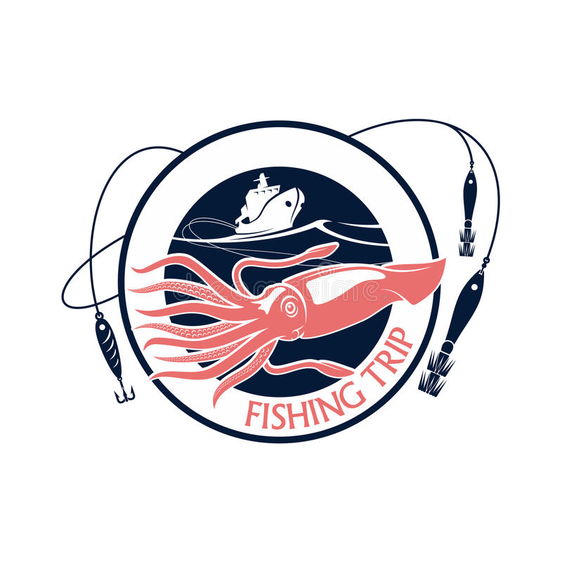 Free Fishing Squid Seafood Trip Vector Icon Stock Photography - 85750102