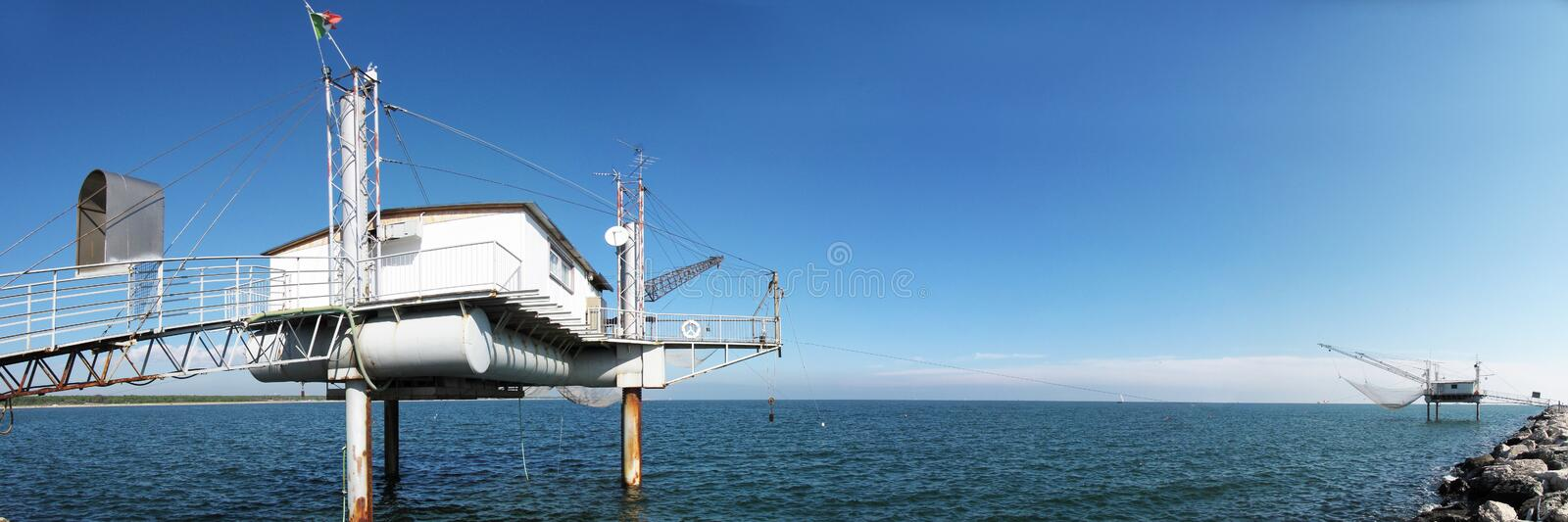 Fishing structure royalty free stock photography