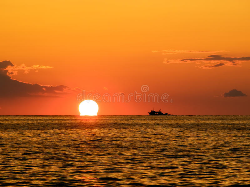 Download Fishing Sunset Royalty Free Stock Photography - Image: 13877727
