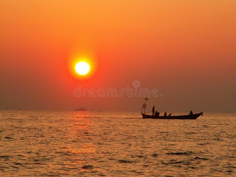 Download Fishing At Sunset Royalty Free Stock Photo - Image: 8101055