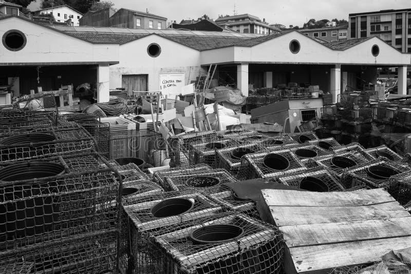 Fishing Supplies in Ribadesella, Asturias. Spain royalty free stock photo
