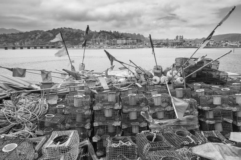 Fishing Supplies in Ribadesella, Asturias. Spain stock image