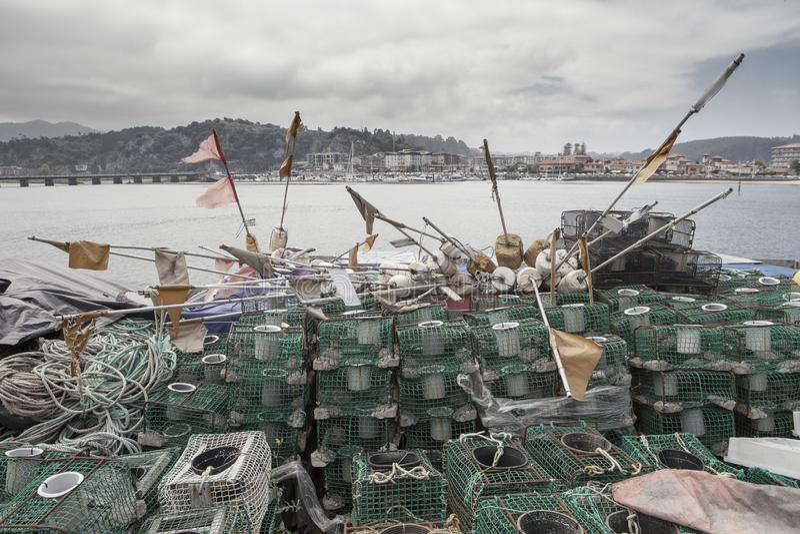 Fishing Supplies in Ribadesella. Asturias, Spain stock photography