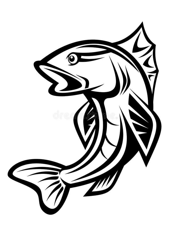 Fishing symbol stock illustration