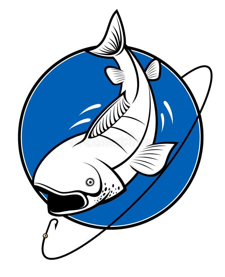 Fishing symbol royalty free stock image
