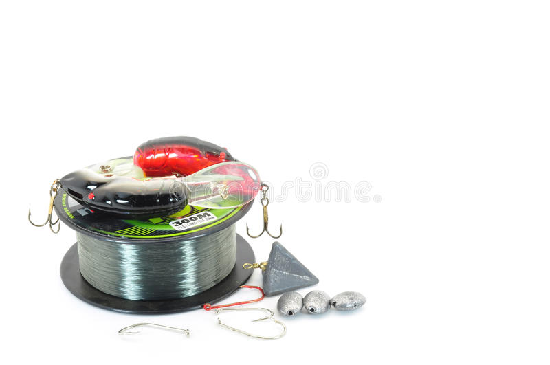 Download Fishing tackle stock image. Image of lures, isolated - 15934715