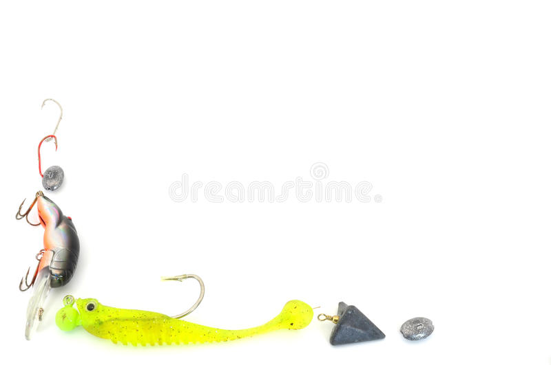 Fishing tackle border stock photo. Image of angling, imitate - 15934692