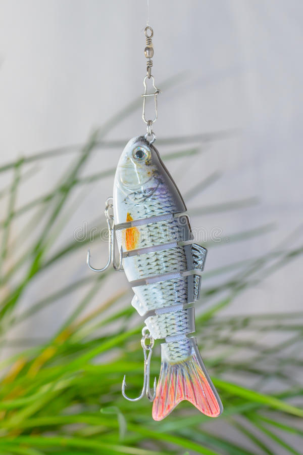 Fishing tackle and fishing lures . royalty free stock image