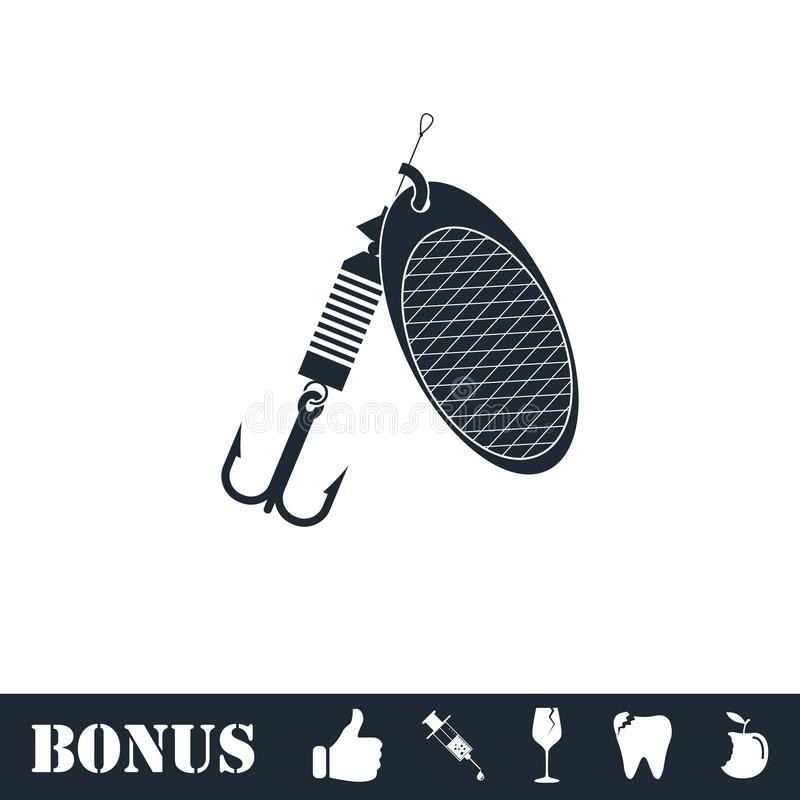 Fishing tackle icon flat vector illustration