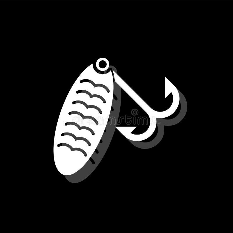 Fishing tackle icon flat stock illustration