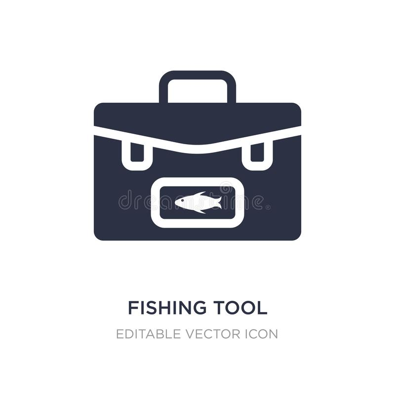 fishing tool icon on white background. Simple element illustration from Food concept vector illustration