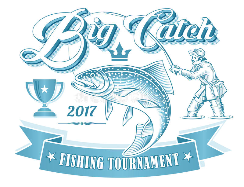 Fishing Tournament Vector Logo vector illustration