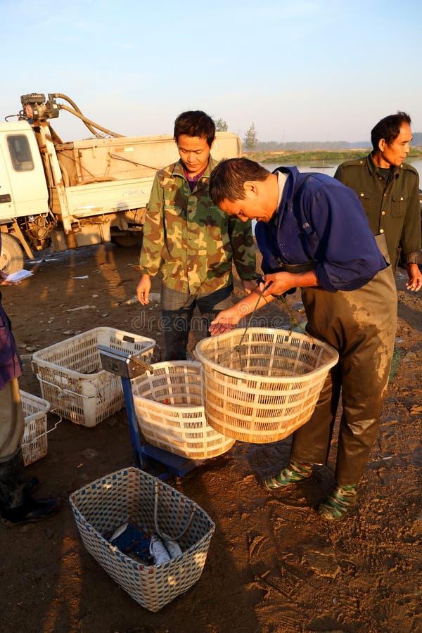 Fishing trader stock photography