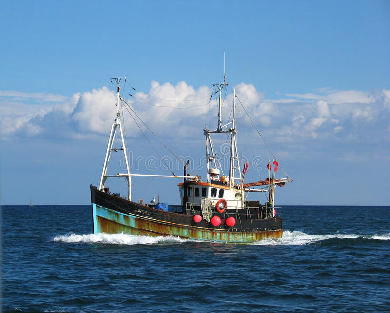 Fishing trawler stock photo. Image of fisherman, business ...