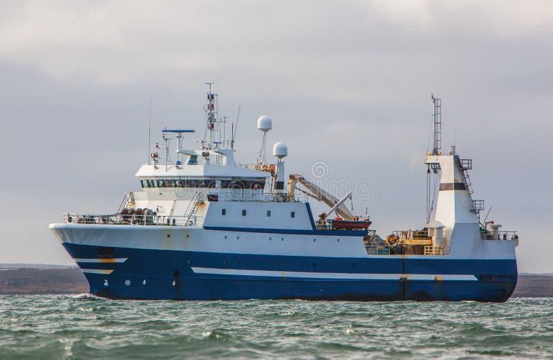Fishing trawler. Icelandic offshore commercial fishing factory stern trawler stock photos