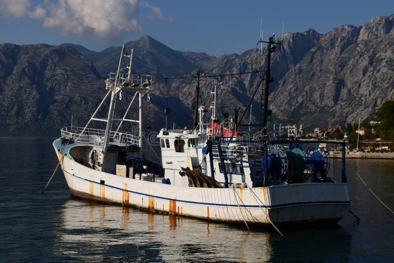 Fishing trawler waiting for season royalty free stock photography