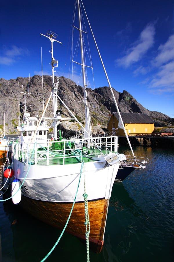 Fishing vessel in Norway stock image