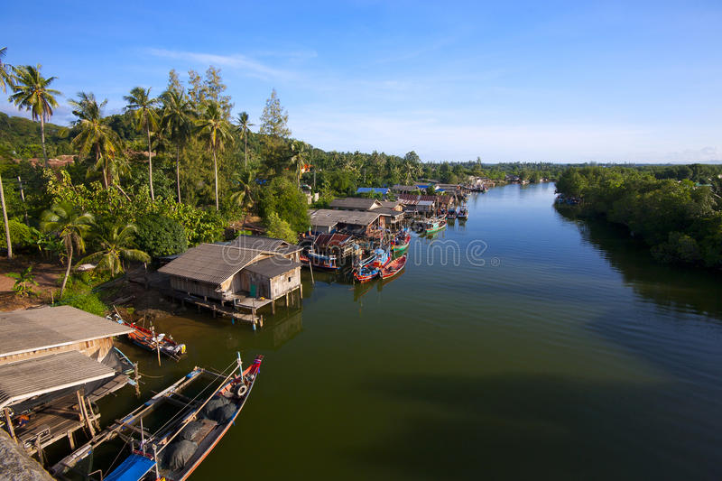Download Fishing village. stock photo. Image of colorful, river - 16381168