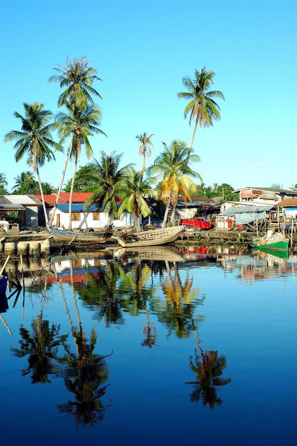 Fishing village royalty free stock photo