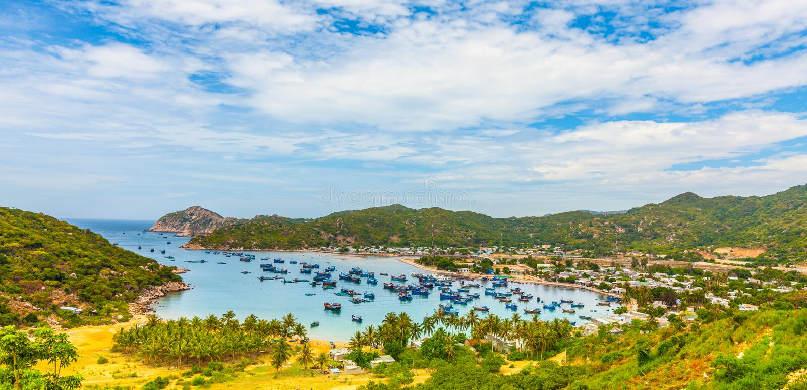 Download Fishing village stock photo. Image of south, east, vessel - 26214704