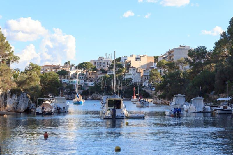 Download Fishing Village Cala Figuera Bay Panorama And Mediterranean Sea, Majorca Stock Photo - Image: 89152710