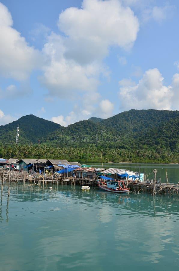 Fishing village at Koh Chang Thailand royalty free stock images