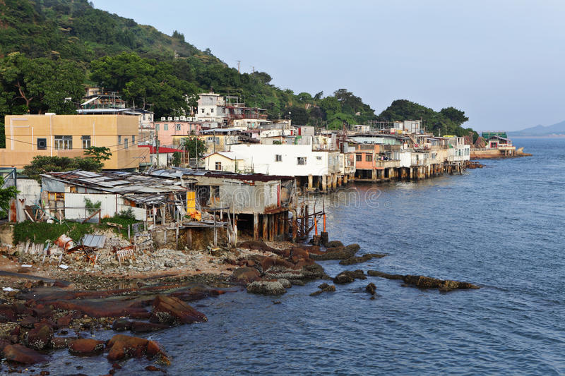 Fishing village of Lei Yue Mun royalty free stock photography