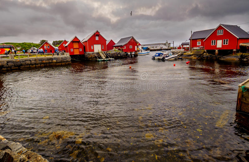 Fishing village - Molde Norway stock images