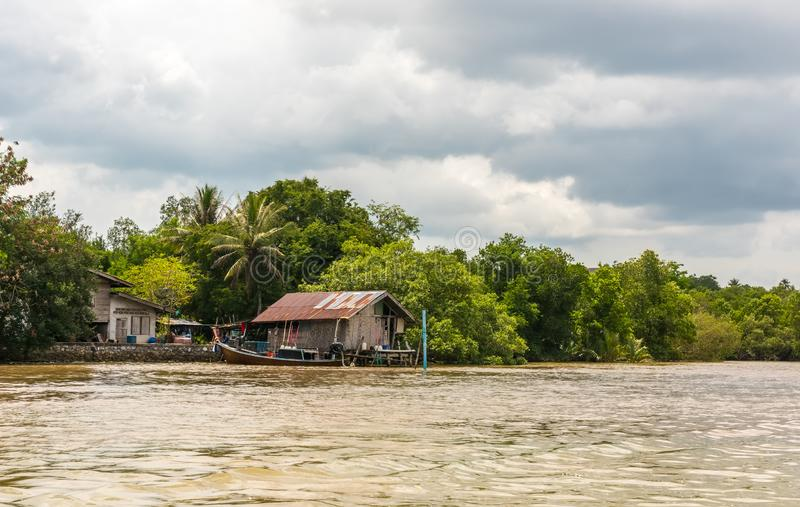 Fishing village in Krabi Province, Thailand royalty free stock photo