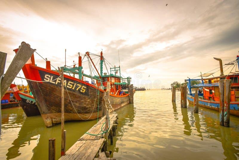 Fishing Village, Sekincha, Selangor Malaysia. Sekinchan is a small town located in Sabak Bernam, Selangor, Malaysia. It is located along the coastal Federal royalty free stock images
