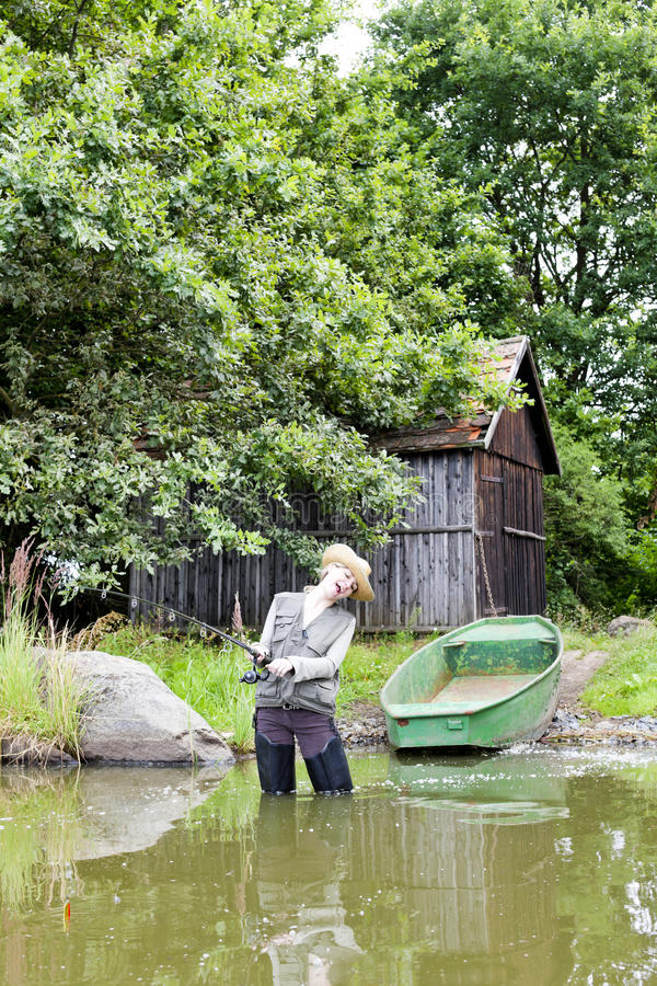 Download Fishing Woman Royalty Free Stock Images - Image: 22864189