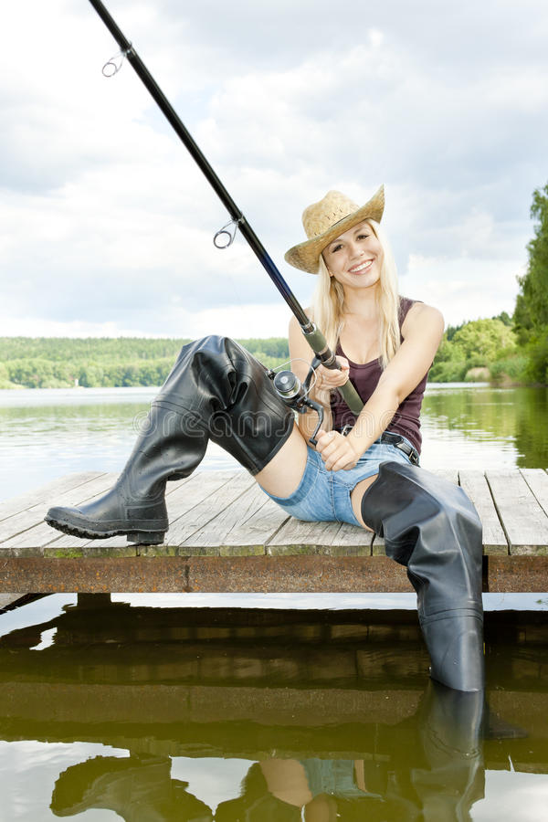 Download Fishing Woman Royalty Free Stock Photo - Image: 28527235