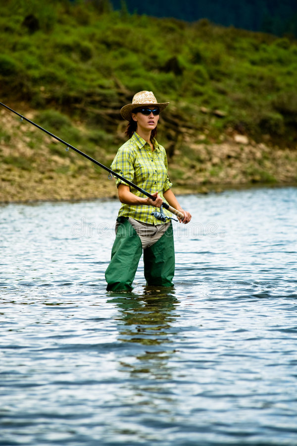 Fishing for woman 4 royalty free stock photos