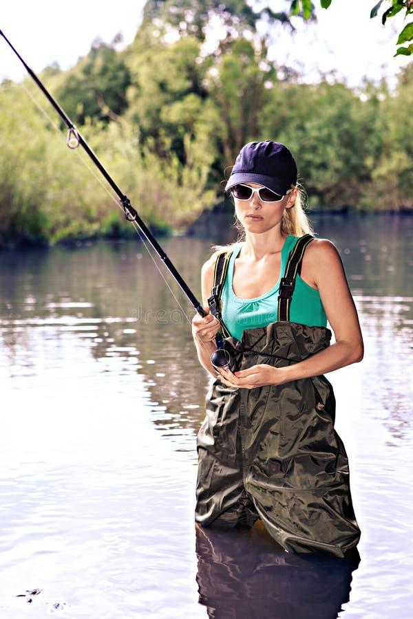 Download Fishing Woman Stock Image - Image: 31871151