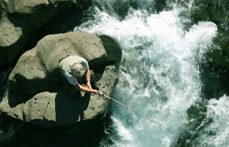 Fishingriver immagini stock