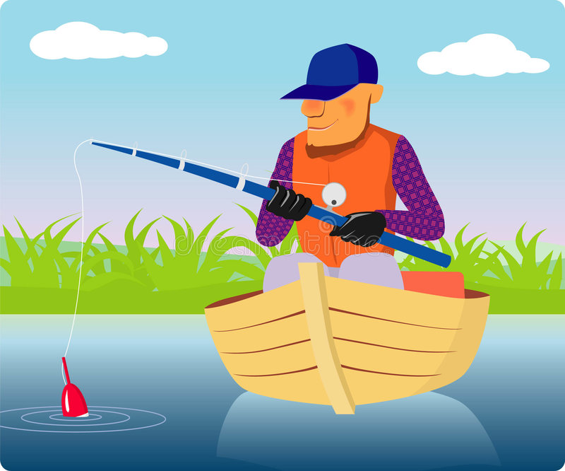 Fishman ilustração royalty free