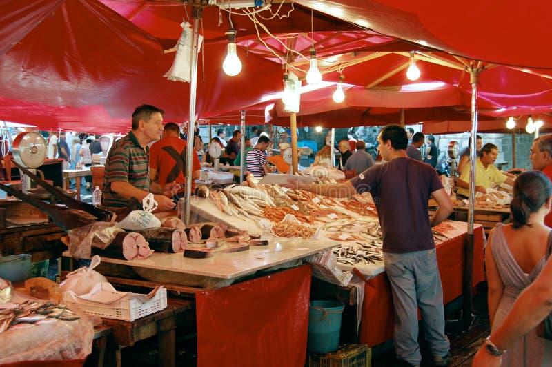 Fishmarket of Catania royalty free stock image