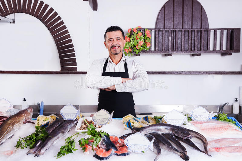 fishmonger στοκ φωτογραφία
