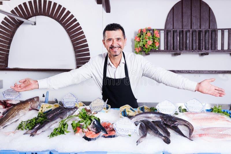 fishmonger στοκ εικόνες