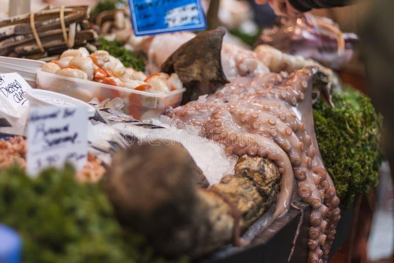 Fishmonger's display stock photography