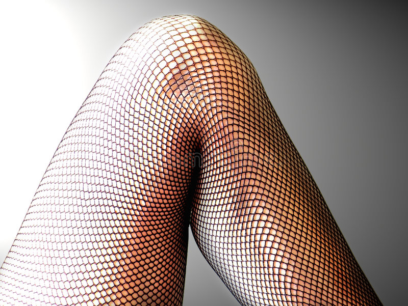 Fishnet Leg royalty free stock photos