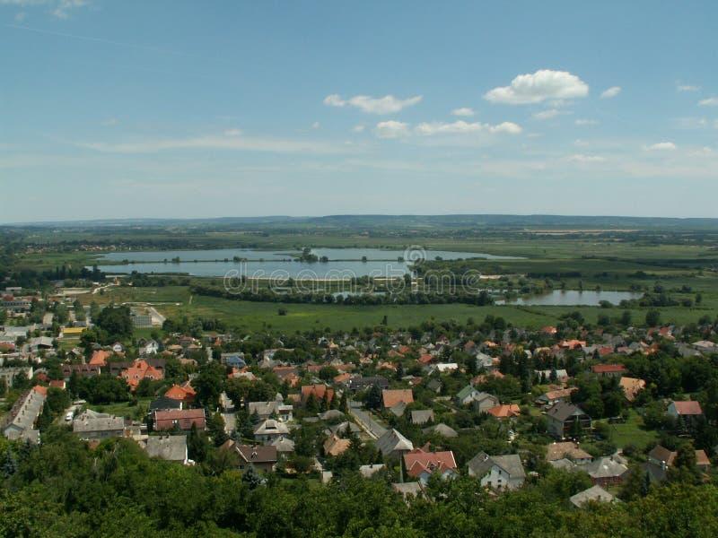 Fishponds blisko jeziornego Balaton obrazy royalty free