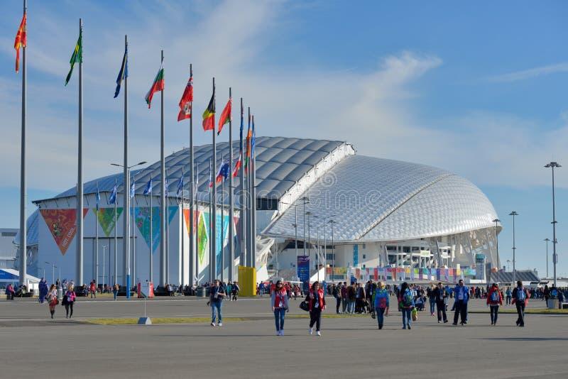 Fisht el estadio Olímpico en Sochi, Rusia imagen de archivo