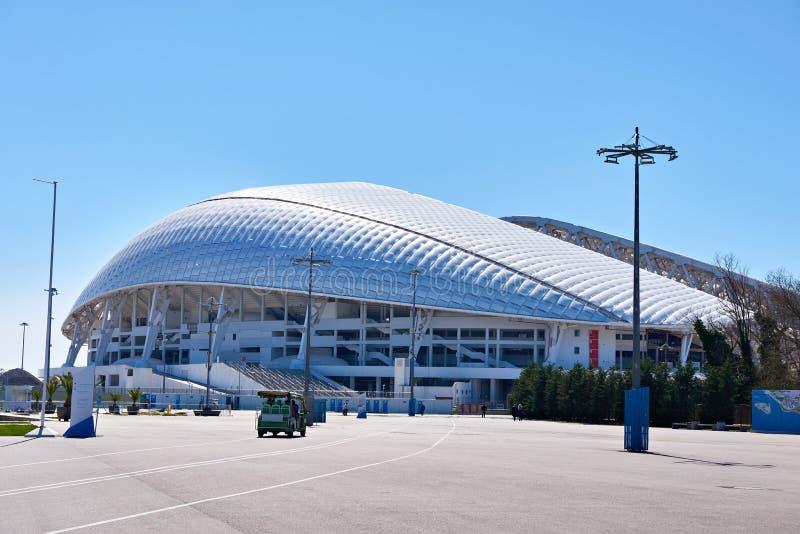 Fisht Olimpijski stadium jest na otwartym powietrzu stadium w Sochi fotografia royalty free
